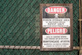 Keep off poison storage area Royalty Free Stock Photo