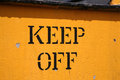 Keep off stenciled side old locomotive Stock Photo