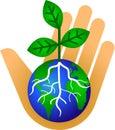 Udržiavať náš Zem zelený / obdĺžnik ohraničujúci potlačiteľnú oblasť
