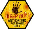 Keep out sign, Royalty Free Stock Photo