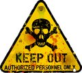 Keep out sign warning prohibition Royalty Free Stock Photo