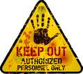 Keep out sign warning prohibition vector grungy Royalty Free Stock Photography