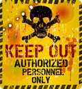 Keep out warning sign w bullet holes vector Royalty Free Stock Photography