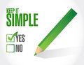 keep it simple check approval check mark sign Royalty Free Stock Photo
