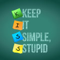 Keep it simple stupid illustration design over a chalkboard Royalty Free Stock Images