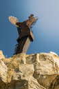 Keeper of the plains in wichita kansas Royalty Free Stock Photography