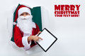 Keeping in touch with santa was never so easy technology concept copy space Royalty Free Stock Photos