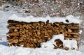 Keeping you warm in winter staying nh is key to with cord wood that is cut Stock Photos