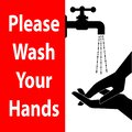 Keeps your hands clean. Please wash your hands.