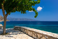 Kefalonia beach and ionian sea in the greece Royalty Free Stock Photos