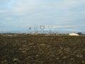 Keflavik art town near international airport in iceland Royalty Free Stock Photo