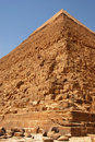 Kefren Pyramid on Giza, Cairo Stock Photos