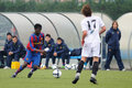 Keita balde plays with f c barcelona youth team against gimnastic de tarragona at ciutat esportiva joan gamper jan on Stock Photos
