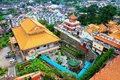 Kek lok si buddhist temple bird view of of supreme bliss on april in penang malaysia Stock Photos