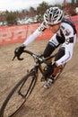 Kelsy Bingham  - Pro Woman Cyclocross Racer Stock Images