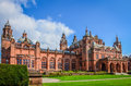 The Kelvingrove art gallery and museum in Glasgow, Scotland Royalty Free Stock Photo