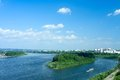 Kemerovo, panoramic view from the embankment Royalty Free Stock Image