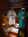 Ken Griffey, Jr Locker with Jerseys and other memorabilia at Mar