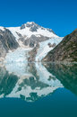 Kenai fjords glacier reflecting in alaskan usa Stock Photography