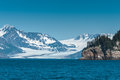 Kenai fjords mountains and glacier in alaskan usa Stock Photos