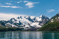 Kenai fjords mountains and glacier in alaskan usa Royalty Free Stock Photo
