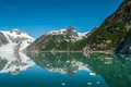 Kenai fjords mountains glacier and chunks of ice in alaskan usa Stock Images