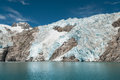 Kenai fjords mountains glacier and chunks of ice in alaskan usa Royalty Free Stock Photo