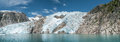 Kenai fjords mountains glacier and chunks of ice in alaskan usa Stock Image