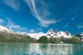 Kenai fjords mountainsand glacierlandscape in alaskan usa Royalty Free Stock Photography