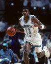 Kendall gill charlotte hornets guard image from color slide Stock Photography
