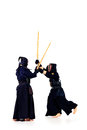 Kendo fighters Royalty Free Stock Photo