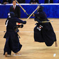 Kendo match in action Stock Photos