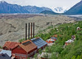 Kennecott, Alaska and Root Glacier Stock Image