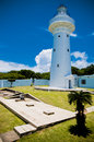 Kenting lighthouse in eluanbi park national park southern taiwan Royalty Free Stock Photography