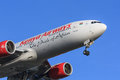 Kenya airways jet boeing close up of front section Royalty Free Stock Photo