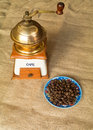 Kenya mugaya cofee coffee beans on a colored plate Royalty Free Stock Photo