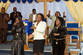 Kenyan American gospel singers Royalty Free Stock Images
