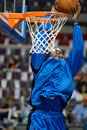 Kenyon dooling of the orlando magic warms up before a game at palace auburn hills against detroit pistons Stock Photography