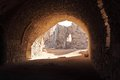 Kerak crusader fortress jordan inside the famous in Royalty Free Stock Photography