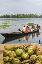 Kerala waterways and boats the open of the backwaters ashtamudi lake Royalty Free Stock Images