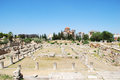 Kerameikos remains of ancient cemetery in the quarter of athens greece Royalty Free Stock Photos