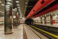 Keramikos metro station just take a look Stock Image