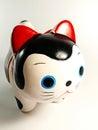 Keramisk japansk kattdocka Royaltyfria Bilder