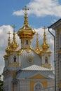 Kerk in Peterhof. St. Petersburg, Rusland. Royalty-vrije Stock Fotografie
