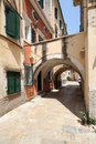 Kerkyra corfu a street in the city of greece Stock Photography