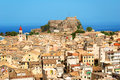 Kerkyra town fortress corfu Royalty Free Stock Photography