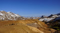 Kerlingarfjöll choclolate mountains panorama picture of chocolate coloured in summer in iceland Stock Image