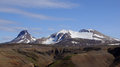Kerlingarfjöll mountain mountains still covered in snow in summer Royalty Free Stock Images
