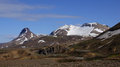Kerlingarfjöll mountains view of still covered in snow in summer in iceland Royalty Free Stock Photo