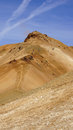 Kerlingarfjöll people climbing mountain panorama picture of in summer in iceland Royalty Free Stock Images